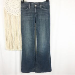 GOLDSIGN Silvie Low Rise Flare Stonewash Jeans 27